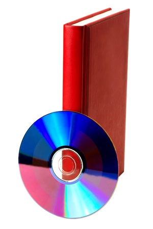 red book and compact disk isolated Stock Photo - 12820257