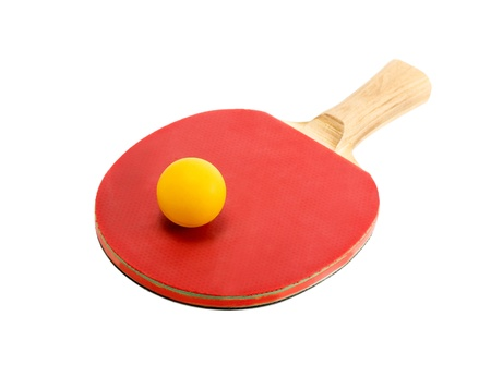 table tennis racket isolated photo