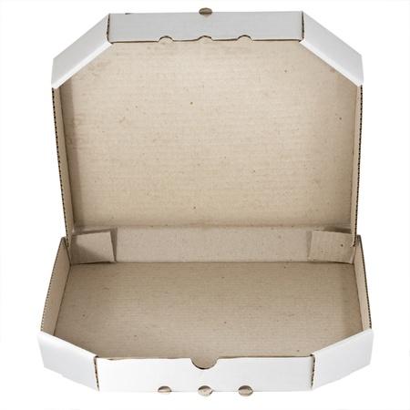 Pizza carton box isolated photo