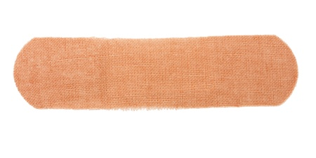 band aid: adhesive bandage isolated on white background