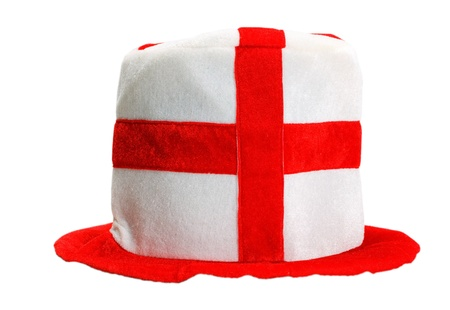 hat english soccer fan isolated on white background. photo