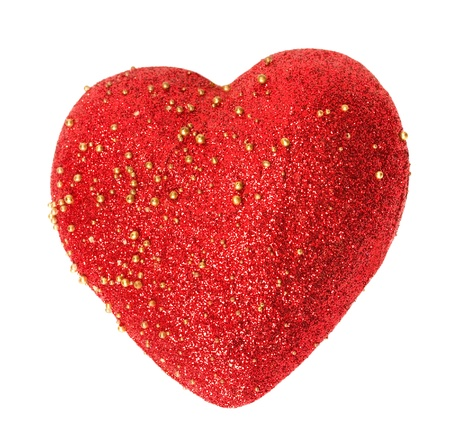 red heart isolated on white background Stock Photo - 13116189