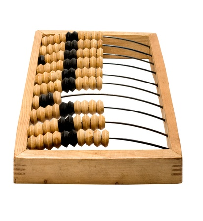 additional training: wooden abacus isolated on white background