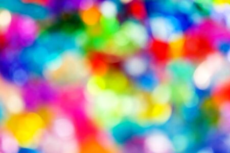 Blurry pattern of colorful decoration lights background photo