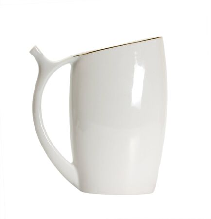 Mug for mineral water isolated on a white background photo