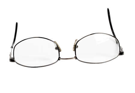 far sighted: spectacles isolated on white background