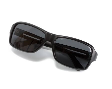 black sunglass on white background photo