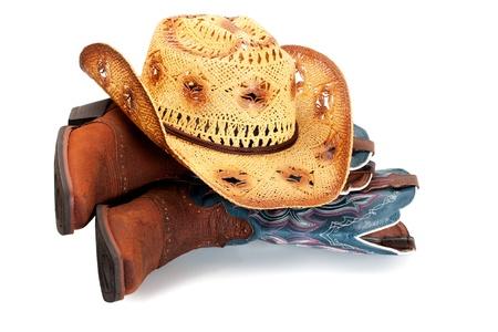 cowgirl hat: con el sombrero en las botas