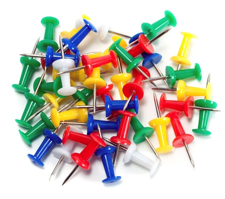 color push-pin thumbtack tool office isolated Stock Photo