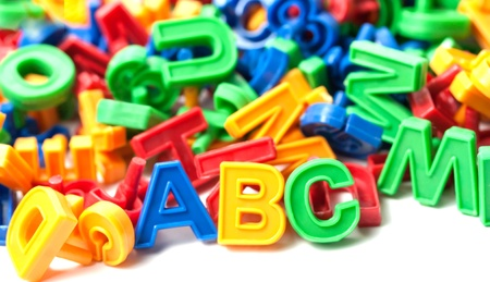 colorful alphabet letter ABC isolated on white background Stock Photo - 14211940