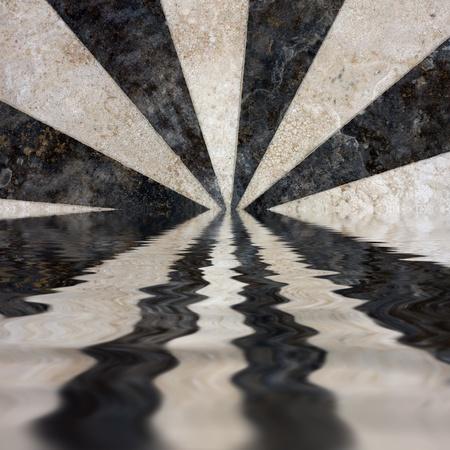 fondo blanco y negro: rayos reflexión sobre fondo blanco y negro