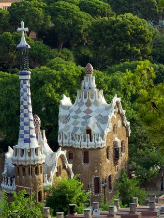 Park Guell, Catalan architect Antoni Gaudi, Barcelona, Spain  photo