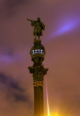 Christopher Columbus Monument in Barcelona, Spain Stock Photo - 16751680