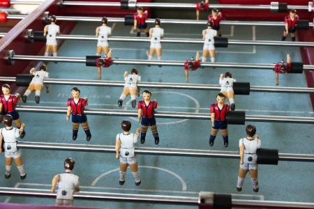 foosball: game table soccer plastic old toys