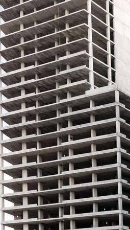 Construction of houses of concrete facade photo