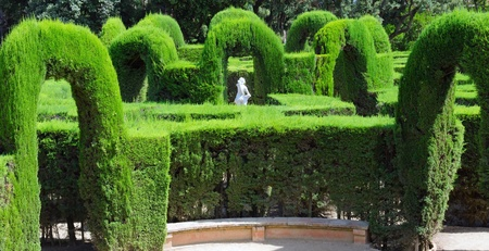 Park Labyrinth and sculpture in Barcelona, Spain, Catalonia  photo
