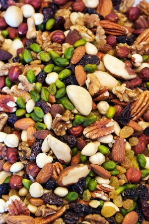 mixed nuts: assortment of tasty nuts background