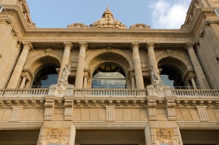 Catalunya National Museum of Art in blue sky. Barcelona. Catalonia. Spain