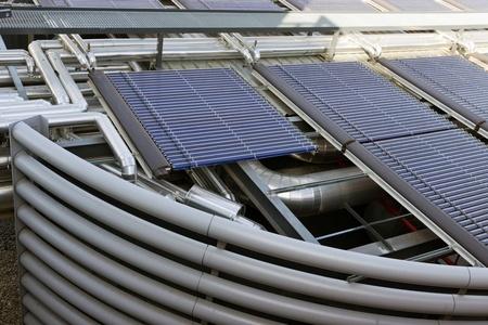 solar battery,ventilation of air conditioner compressor photo