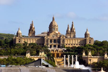 National Palace of Barcelona in mountain of Montjuic  Catalonia, Spain