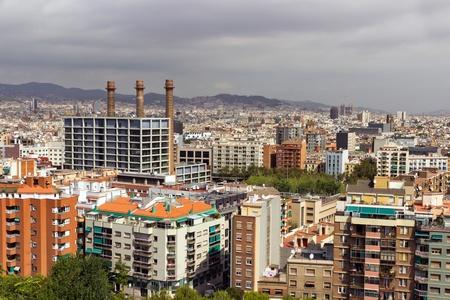 A panoramic view building of Barcelona  Spain  Catalunya photo