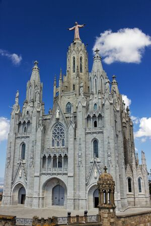 Basilica Temple of the Sacred Heart of Jesus, Barcelona, Catalunya, Spain photo