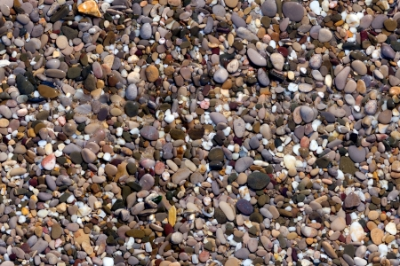 pebbles wet on a sea beach background seamless photo