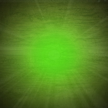 sunbeam in green wall wood texture background photo