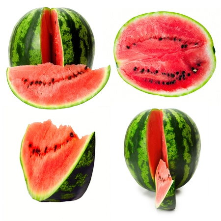 Watermelon set isolated on white background photo