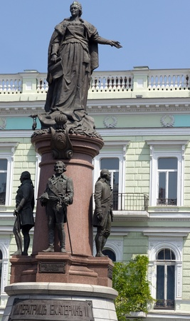catherine: Monument to Empress Catherine 2,landmark Odessa, Ukraine