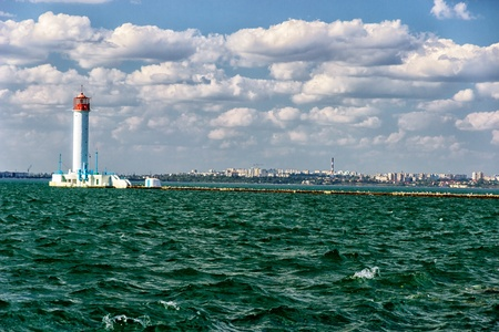 vorontsov: Vorontsov lighthouse in Odessa harbor, Ukraine.