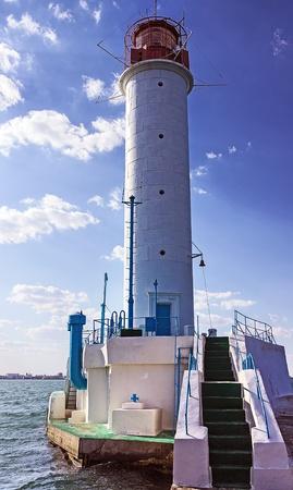vorontsov: Vorontsov lighthouse in Odessa harbor, Ukraine   Stock Photo