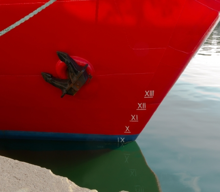 numbering: ship with draft scale numbering side Stock Photo
