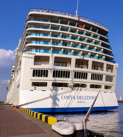 deliziosa: ODESSA, Ukraine - August 23  Cruise ship Costa Deliziosa came into the port of Odessa, Ukraine on August 23, 2013  Costa Cruises - the largest European cruise operator