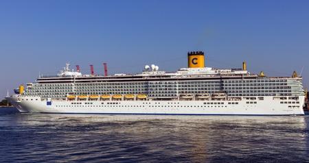 ODESSA, Ukraine - August 22: Cruise ship Costa Deliziosa came into the port of Odessa, Ukraine on August 22, 2013. Odessa is the biggest cruise port of Ukraine.