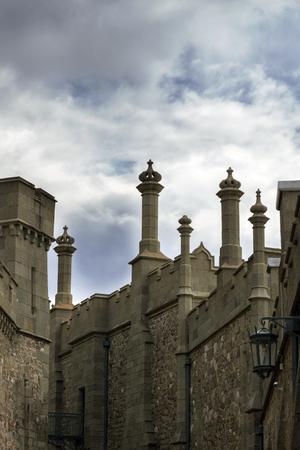 voroncov: fortress Vorontsov Palace in sky, Crimea, Ukraine