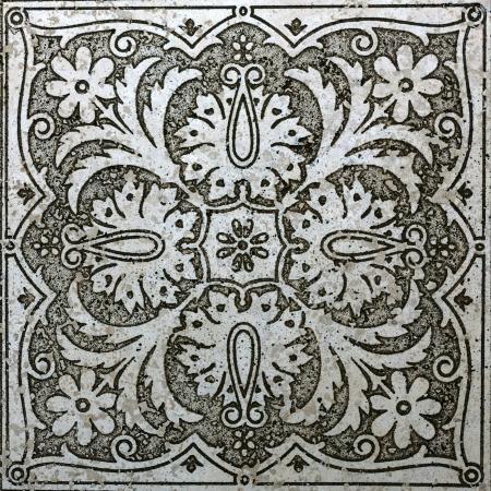 marble old ornamental flower vintage tile  photo