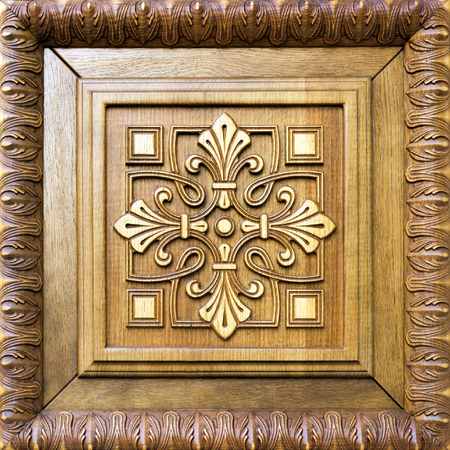 wooden door decoration pattern flower cross photo