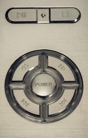power button vintage retro style background.