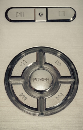 power button vintage retro style background. photo