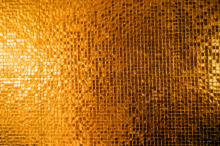 wall tile: gold wall tile texture background Stock Photo
