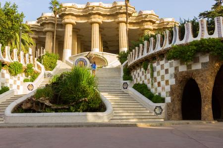 gaudi: Park Guell designed by Antoni Gaudi in Barcelona, Spain.