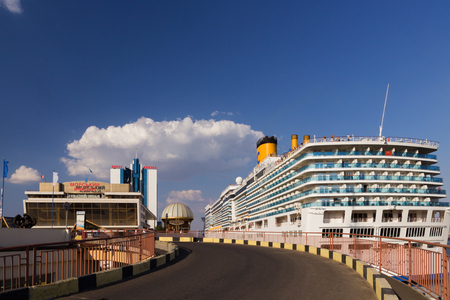 ODESSA, Ukraine - August 23: Cruise ship Costa Deliziosa came into the port of Odessa, Ukraine on August 23, 2013. Costa Cruises - the largest European cruise operator.