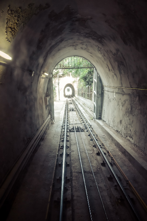 funicular Barcelona. Catalonia, Spain. Vintage retro style photo