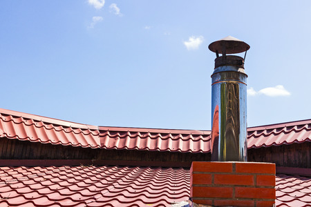 pipe to ventilations on roof Banco de Imagens