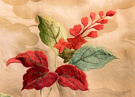 Japan pattern on decorative kimono floral Japanese style background photo