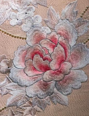 Japan pattern rose on decorative kimono floral Japanese style background photo