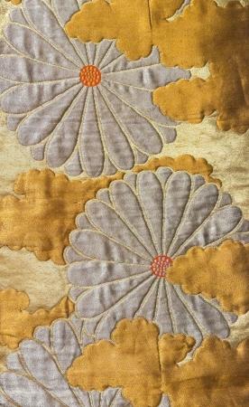 Japan pattern on decorative kimono floral Japanese style  photo
