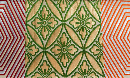 ornate pattern on decorative kimono floral Japanese style background photo