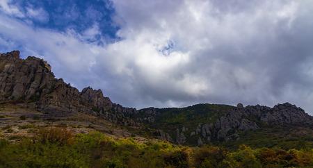 hill of tara: mountain summer landscape. Crimea, Ukraine